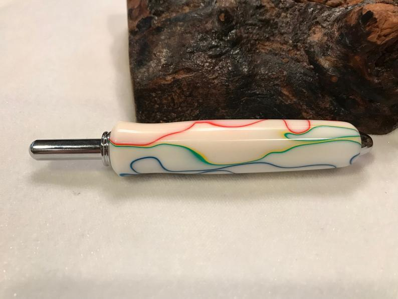 One of Kind Handmade Pocket Clip Seam Ripper  ✂️ 👌 ❤️ - Carved Nature