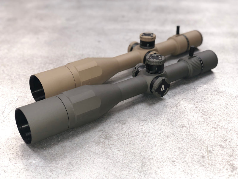 The Atibal APEX 4-14x44 Rifle Scope Features a First Focal Plane reticle, ultra clear Lanthanum HD glass, a side focus parallax adjustment, and an integrated rapid view lever.