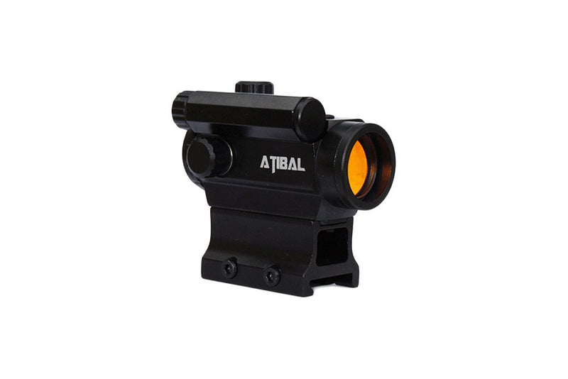 Atibal MCRD Micro Red Dot Sights feature 18 brightness settings, 2 operation modes, a auto shut-off function, and get thousands of hours of battery life from one AAA battery.  Atibal MCRD Red Dots are available in low profile or absolute co-witness heights.