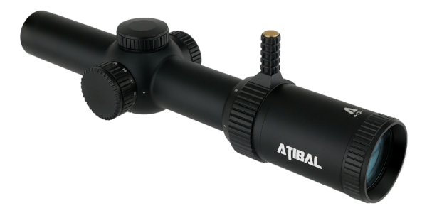 The Atibal XP8 1-8x24 is a Second Focal Plane rifle scope with an illuminated reticle and integrated rapid view lever.  The XP8 features fully multi-coated lenses with our extra low dispersion ultra clear glass.  Engage short to medium distance targets with confidence with the Atibal XP8.