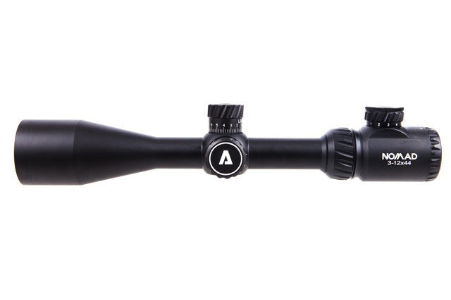 Atibal NOMAD Rifle Scopes are the perfect optic if you are looking for a premium quality scope for an affordable price.  The NOMAD rifle scopes feature both red and green illuminated reticles, ultra clear glass, and side focus parallax adjustments.