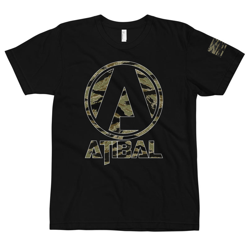 Atibal Shield Logo Rhodesian Tiger Stripe Camo T-Shirt