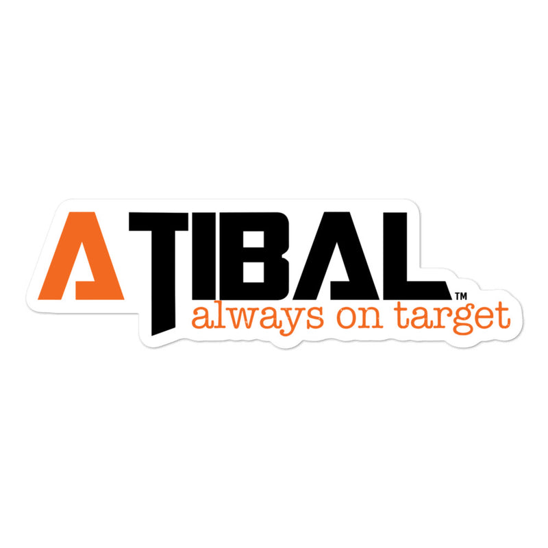 "Atibal ""Always On Target"" Logo Sticker"