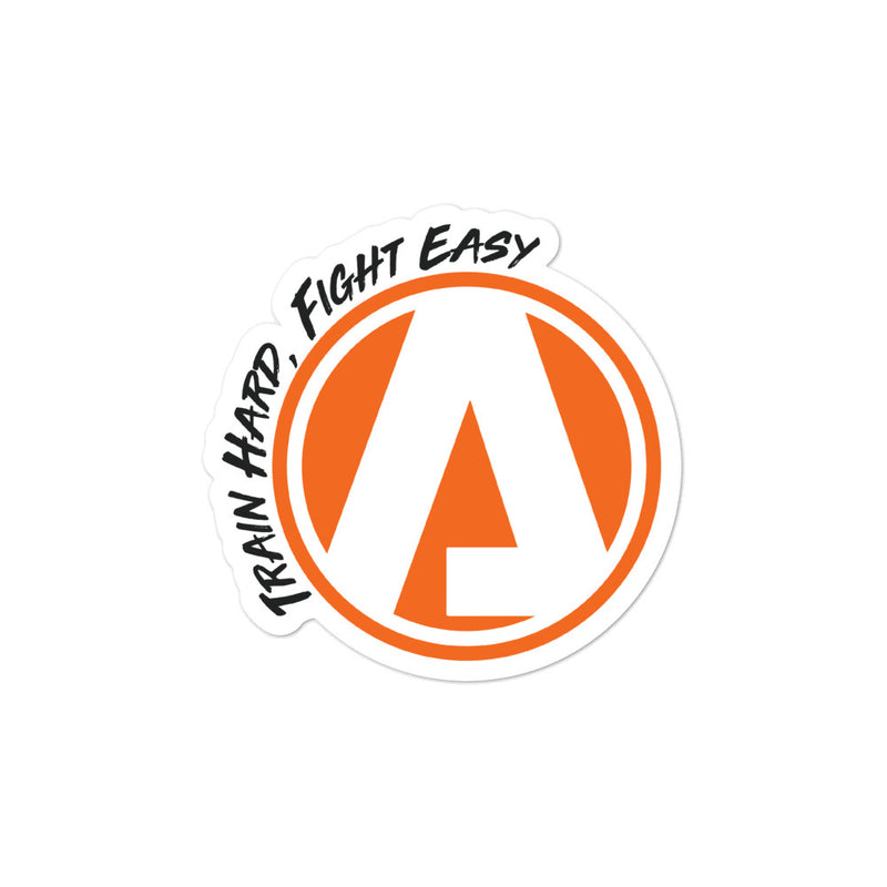 "Atibal Shield ""Train Hard, Fight Easy"" Sticker"