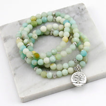 Load image into Gallery viewer, Amazonite Mala (Tree of Life)