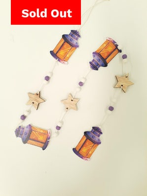 Long Hanging Garlands Lanterns (Purple Base)
