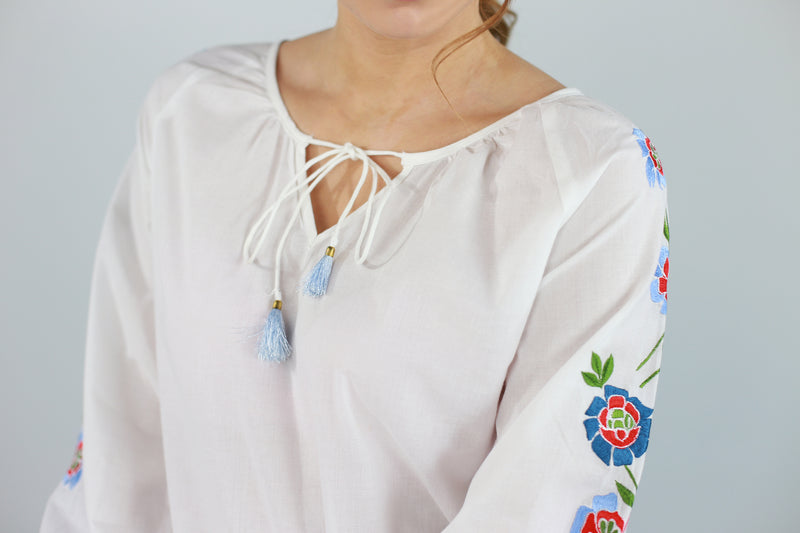 Azalea Embroidered Top
