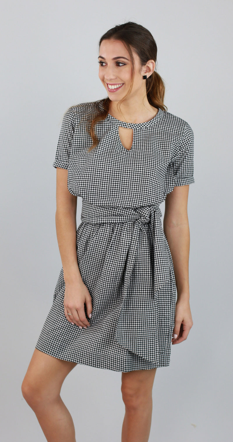 Aster Gingham Dress