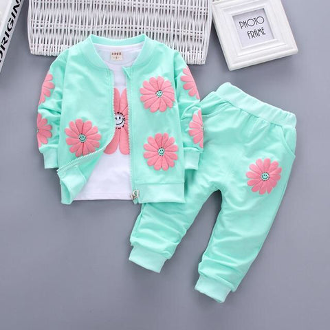 Aqua Blue Girls 3pcs Set