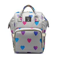 Multifunctional Baby Diaper Bag Mummy Nappy Bags With Love Heart Printing Large Capacity Travel Backpack Nursing Care