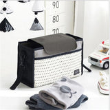 HotMultifunctional Mummy Bag Diaper Bags Baby Diaper Nappy Polyester Stroller Striped Hanging Bag