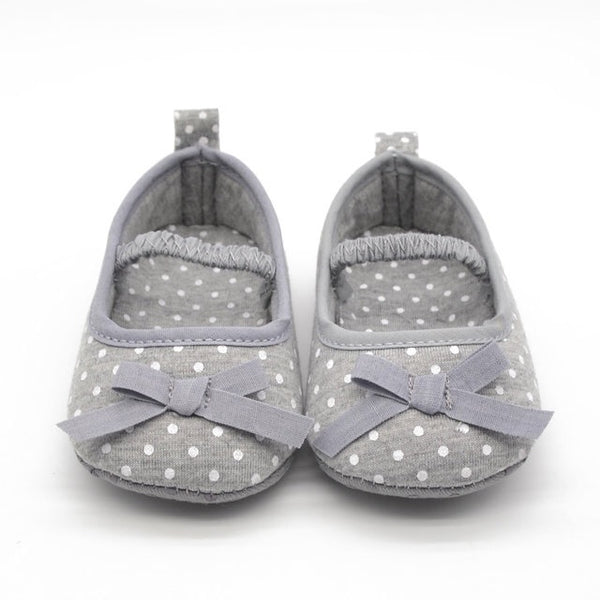 Gray Butterfly-Knot Infant/Toddler Shoes