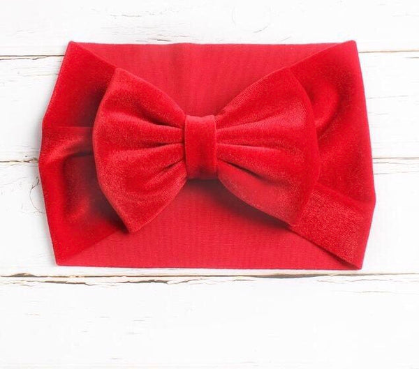 Brand New 2019 Velvet Hair Bow Accessories Girls Newborns Infants/Toddlers Headwrap Wear