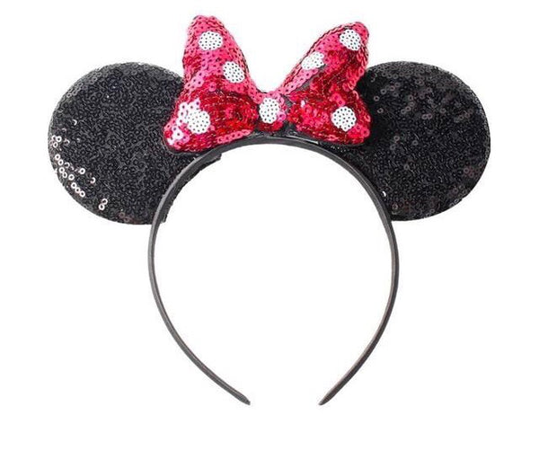 New Baby Girls Head Accessories Minnie Mouse Hair Bow Style Wear
