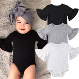 Newborns Infant Girls Cotton Ruffled Romper Short Sleeve Clothing Collection Sizes 0-24M