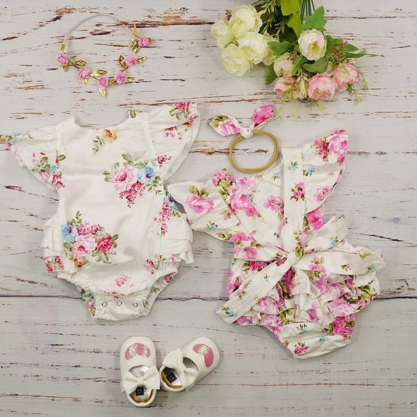 Newborns/Infants 2019 Baby Girls Summer Rompers Sizes 6M-18M