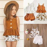 2021 Spring Baby Girls Knitted Floral Top/Pants 2pcs Clothing Set Size 18M-5T