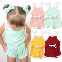 2021 Summer Baby Girls Knitted One Piece Jumpsuit Size
