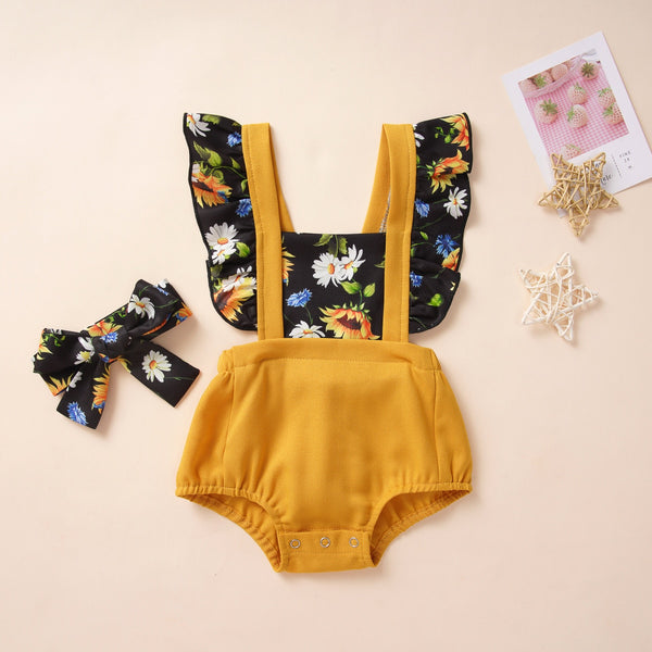 2021 Newborns Spring Baby Girls 2pcs Set Bodysuit Clothing Size 6M-24M