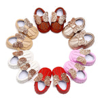 New Spring & Summer Newborn/Infant Baby Girls Sequin Bow Shoes 0-18M