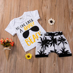Brand New Summer Baby Boys 2pcs T-Shirt+Shorts Cocount Print Set Sizes 0 - 3T