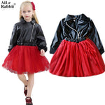 AiLe Rabbit Brand Girls Dress Fall Fashion Princess Party High Quality Wear