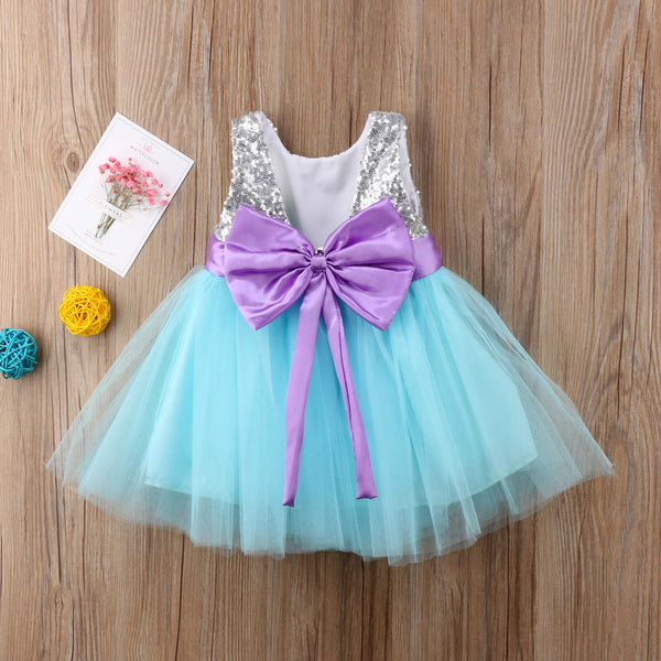 New Girls Princess Sequin Tulle Dress 6M-4T