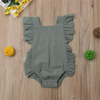 Brand New Summer Newborns/Infants Baby Girls Ruffled Bodysuit Sunsuit Outfits Sizes 6M-24M