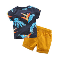Brand New Baby Boys Summer 2pcs T-shirt+Pants Outfit Set Sizes 2T-7YRS