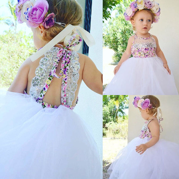 Toddler Baby Girls Sequin Tulle Sundress Sizes 0-24M