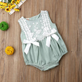 2019 Newborns/Infants Baby Girls Lace Ruffled Rompers Sizes 6M-24M