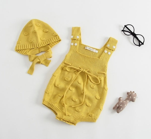New 2019 Newborns Baby Girls Knitted Romper Fall Set