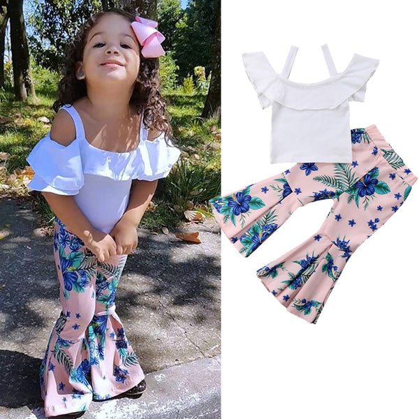 Brand New Spring/Summer 2pcs Toddler Girls Clothing Sets Sizes 2T-6YRS