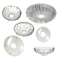 Crystal Bobeches, Cups and Dishes