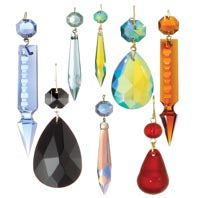 Colored Chandelier Crystal Prisms