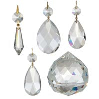 Clear BrilliantCut Crystal Prisms