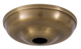 5 1/2 Inch Antique Brass Round Canopy ONLY or Canopy KIT with matching finish