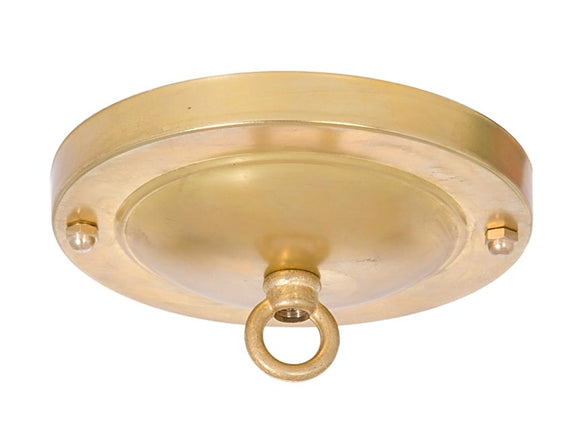 Unfinished Brass Canopy and hardware kit with matching finish