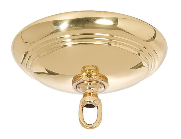 Polished and Lacquered Solid Spun Brass Ribbed Canopy Kits