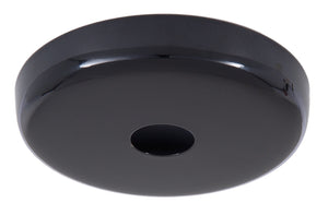 Black Finish Plain Rounded Canopy and Canopy Kits