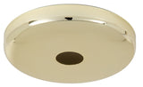 Brass Finish Plain Rounded Canopy and Canopy Kits