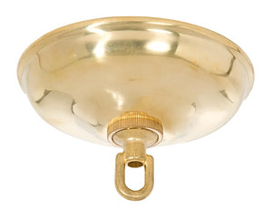 5 1/2 Inch Brass Round Canopy ONLY or Canopy KIT with matching finish