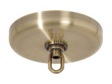 Antique Brass Finish Plain Rounded Canopy and Canopy Kit