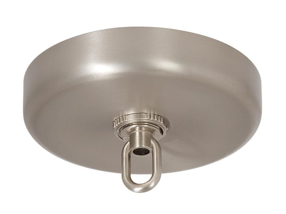 Satin Nickel Finish Plain Rounded Canopy and Canopy Kits