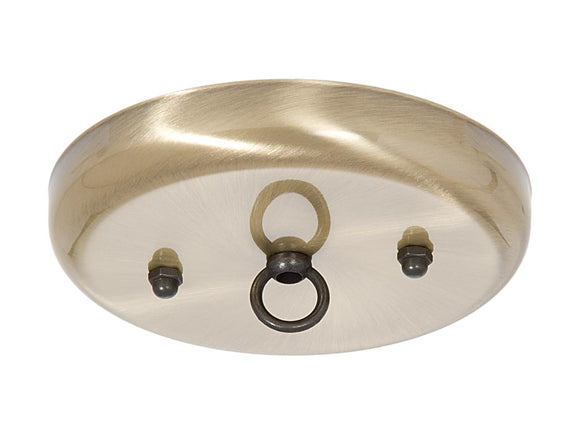 5 1/4 Inch Steel Canopy Kit with Antique Brass Finish