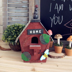 Hand made American Rural Style Wood Bird House