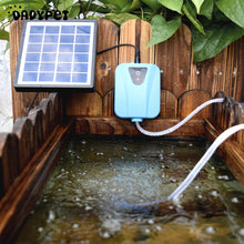 Durable Small Solar Powered/DC Charging Oxygenator Air Pump low noise large air volume Pond Aerator