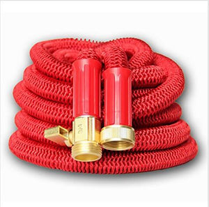 50ft Telescoping Aluminum high Pressure Red Garden Water Hose