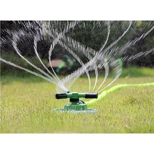 360 Degree 3 Nozzles Three Arm Rotating Lawn Garden Watering System