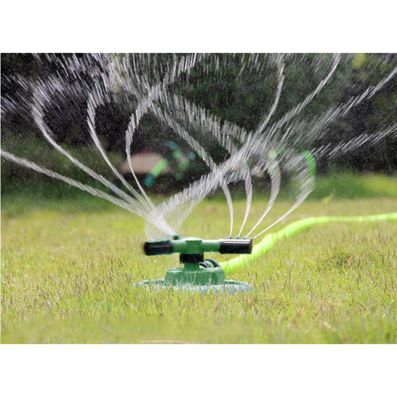 3 Nozzles Arm, 360 Degree Circle Rotating Water Sprinkler